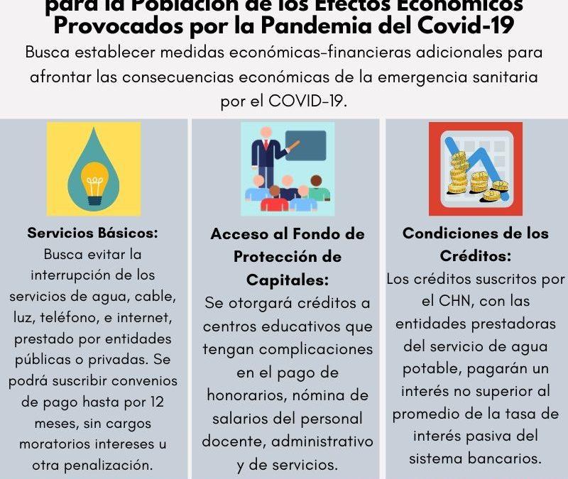 Ley de Medidas Adicionales de Protección para la Población de los Efectos Económicos Provocados por la Pandemia del Covid-19