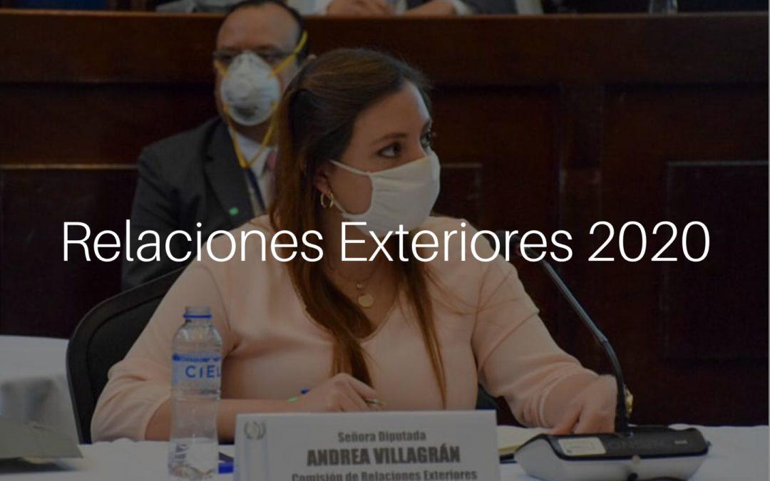 Comisión de Relaciones Exteriores 2020