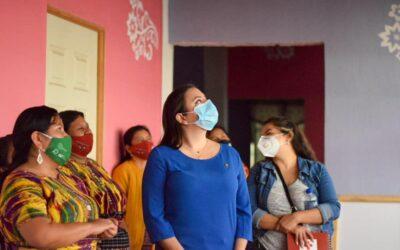Visita de verificación al Centro de Apoyo Integral para Mujeres Sobrevivientes de Violencia -CAIMUS- de San Juan Sacatepéquez