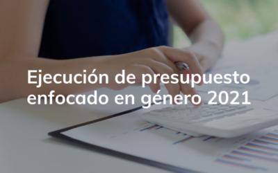 Ejecución de Presupuesto Enfocado en Género 2021